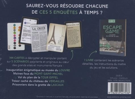 Escape Game Géo. Au coeur des grands sites et monuments français