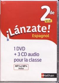 Edouard Clemente et Monique Laffite - Espagnol 2de A2>B1 Lanzate!. 1 DVD + 3 CD audio