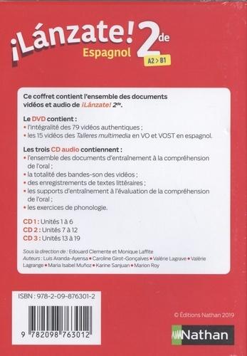 Espagnol 2de A2>B1 Lanzate!  1 DVD + 3 CD audio