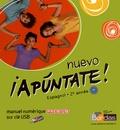 Anne Chauvigné Díaz - Espagnol 2e année Nuevo Apuntate! A2 - Manuel numérique premium sur clé USB, 3 exemplaires.