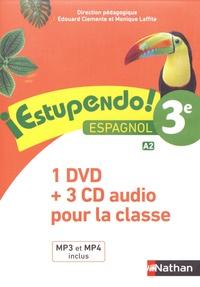 Edouard Clemente et Monique Laffite - Espagnol 3e A2 Estupendo!. 1 DVD + 3 CD audio