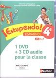 Edouard Clemente et Monique Laffite - Espagnol 4e A1+>A2 Estupendo!. 1 DVD + 3 CD audio