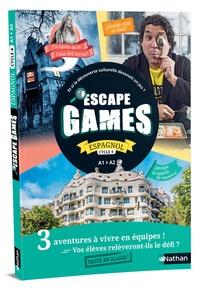 Perrine Chupin et Marion Roy - Espagnol Cycle 4 A1>A2 Escape Games - Guide pédagogique, fiches photocopiables et posters.