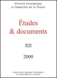 Ministère de l'Economie - Etudes & documents N° 12/2000 : .