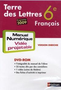 Nathan - Français 6e Terre des Lettres - DVD-ROM Manuel numérique vidéo projetable, programme 2009.