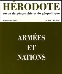 Yves Lacoste - Hérodote N° 116, 1er trimestr : Armées et nations.