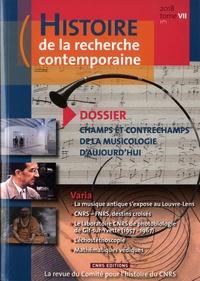 Histoire de la recherche contemporaine Tome 7, N° 1/2018.pdf