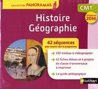 Isabelle Bourdier et Vincent Capdepuy - Histoire-Géographie CM1 Panoramas - 42 séquences pour couvrir tout le programme. 1 Clé Usb