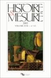 Emmanuel Le Roy Ladurie et Annette Smedley-Weill - Histoire & Mesure Volume 17 N°1-2/2002 : .