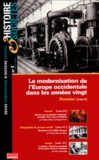 Alternatives économiques - Histoire & Sociétés N° 1, 1er Trimestre : La modernisation de l'Europe occidentale dans les années vingt.