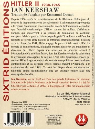 Hitler. Tome 2, 1938-1945  avec 2 CD audio MP3