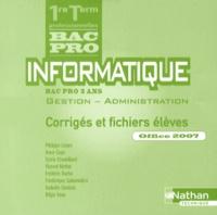 Informatique 1e et Tle Bac Pro Gestion-Administration Office 2007 - Corrigés et fichiers élèves.pdf