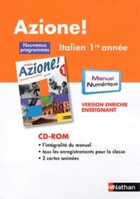 Nathan - Italien 1re année Azione ! - Version enrichie enseignant. 1 Cédérom