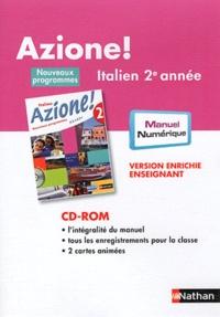 Nathan - Italien 2e année Azione ! - Version enrichie enseignant. 1 Cédérom
