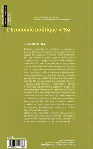 L'Economie politique N° 89, janvier 2021 La planification, une idée d'avenir