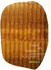 Vincent Michel et François Guery - L'esprit des matériaux N° 1 : Béton(s).