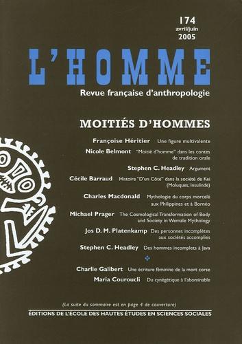 Françoise Héritier et Nicole Belmont - L'Homme N° 174 Avril-Juin 20 : Moitié d'hommes.