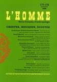 Katell Morand et Simha Arom - L'Homme N° 177 janvier/juin : Chanter, musiquer, écouter.