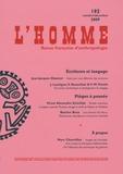 Yves-Marie Visetti et Jean-Jacques Glassner - L'Homme N° 192, Octobre-déce : .