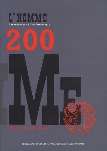 Aline Malavergne et Valérie Ton That - L'Homme N° 200, Octobre-déce : .