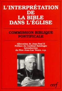 Commission Biblique Pontifical et  Jean-Paul II - .