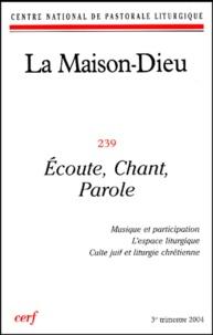 Vincent Decleire et Pierangelo Sequeri - La Maison-Dieu N° 239 troisième tri : Ecoute, chant, parole.