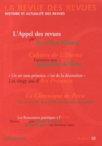 Jean-Yves Masson - La revue des revues N° 50, Automne 2013 : .