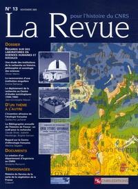 Olivier Martin et Corine Defrance - La Revue pour l'histoire du CNRS N° 13, Novembre 2005 : Regard sur des laboratoires en sciences humaines et sociales.