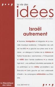 Ivan Jablonka - La Vie des Idées N° 21, Avril 2007 : Israël autrement.