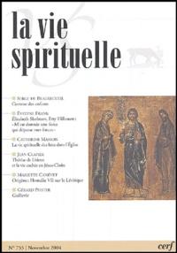 Serge de Beaurecueil et Evelyne Frank - La vie spirituelle N° 755, Novembre 200 : .