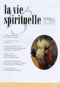 Cerf - La vie spirituelle N° 801, août 2012 : .