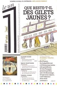Eric Fottorino - Le 1 N° 262, mercredi 4 s : Que reste-t-il des gilets jaunes ?.