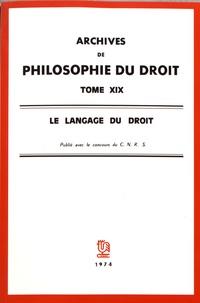 Michel Villey - Le langage du droit.