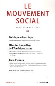 Patrick Fridenson - Le mouvement social N° 226, Janvier-Mars : Histoire immédiate de l'Amérique latine.