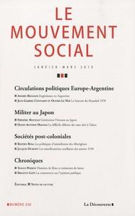 Patrick Fridenson - Le mouvement social N° 230, janvier-mars : Circulations politiques Europe-Argentine.