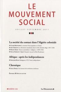 Jean-François Chanet - Le mouvement social N° 236, juillet-sept : La société de contact dans l'Algérie coloniale.