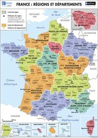 Eduscope - Le relief de la France / France : régions et départements.