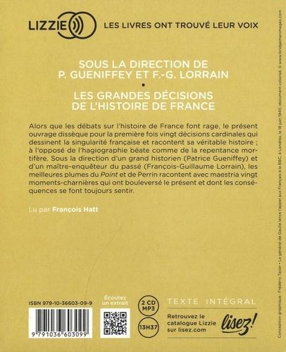 Les grandes décisions de l'histoire de France  avec 2 CD audio MP3