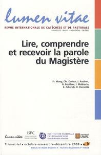 François Moog et Christophe Dufour - Lumen Vitae Volume 64 N° 4, Octo : Lire, comprendre et recevoir la parole du Magistère.