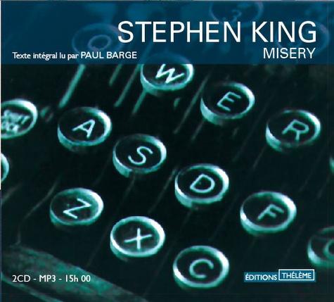 Misery  avec 2 CD audio MP3