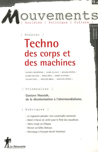 Gilbert Wasserman - Mouvements N° 42, Novembre/Déce : Techno des corps et des machines.