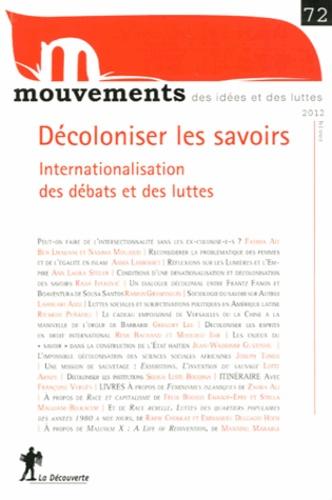 Vincent Bourdeau et Samira Ouardi - Mouvements N° 72 : Décoloniser les savoirs - Internationalisation des débats et des luttes.