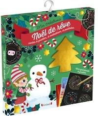 Sophie Rohrbach - Noël de rêve - Avec 2 cartes à pailleter, 2 cartes à métalliser, du fil rouge et blanc torsadé, 2 cartes à gratter.