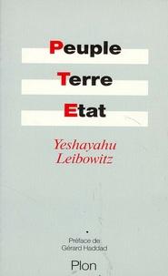 Isaïe Leibowitz - Peuple, terre, état.