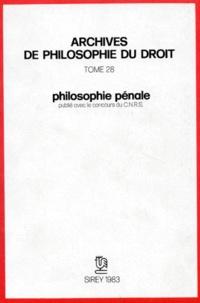 Michel Villey - Philosophie pénale.