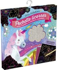 Anne Cresci - Pochette licornes - Cartes à gratter, à métalliser, à pailleter.