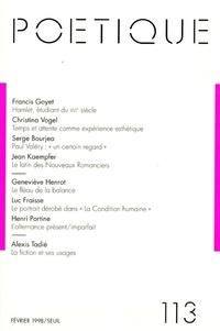 Seuil - Poétique N° 113 : .
