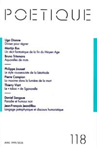 Seuil - Poétique N° 118 / 1999-4 : .