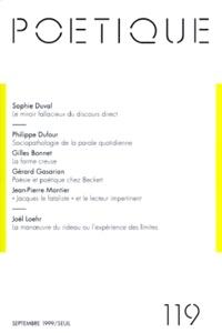 Seuil - Poétique N° 119 : .