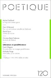 Seuil - Poétique N° 120 : Littérature et paralittérature.
